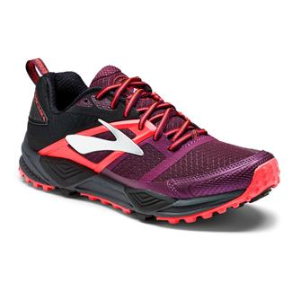 Brooks Cascadia 12 Pickled Beet / Black / Fiery Coral