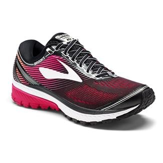 Brooks Ghost 10 Black / Pink Peacock / Living Coral