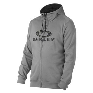 Oakley Combat Front Zip Hoodie Athletic Heather Gray