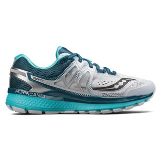 Saucony Hurricane Iso 3 White / Teal
