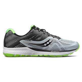 Saucony Ride 10 Gray / Black / Slime