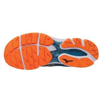 Mizuno Jinete De La Onda 20 Zapatos Para Hombre De Coral Azul / Negro 847os