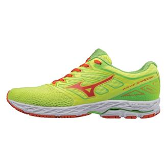 Mizuno Wave Shadow Safety Yellow / Red Orange / Jasmine Green