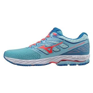Mizuno Wave Shadow Blue Topaz / Fiery Coral / Imperial Blue