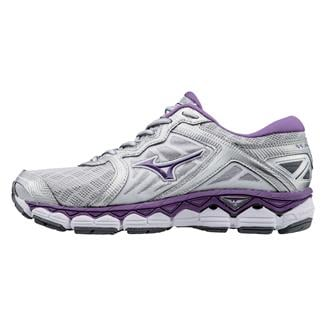 Mizuno Wave Sky Silver / Pansy / Safety Yellow