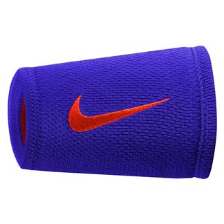 NIKE Dri-FIT Stealth Doublewide Wristband Paramount Blue / Max Orange / Max Orange