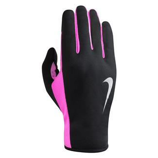 NIKE Rally Run Gloves 2.0 Black / Hyper Pink / Silver