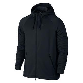 NIKE Dry Training Full Zip Hoodie Black / Mtlc Hematite