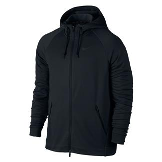 NIKE Dry Training Full Zip Hoodie Black / Mtlc Hematite