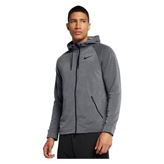 NIKE Dry Training Full Zip Hoodie Dark Gray / Cool Gray / Black