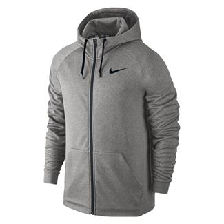 NIKE Therma Training Full Zip Hoodie Gray Heather / Black