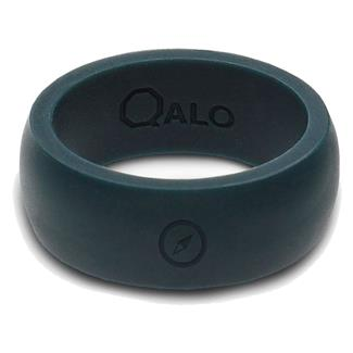 Qalo Silicone Ring with Compass Slate Gray