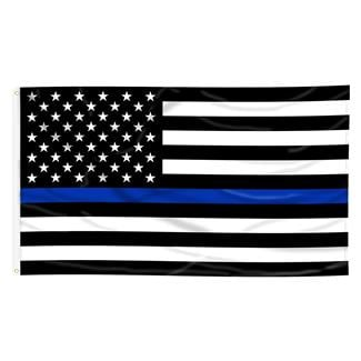 Annin Thin Blue Line Flag Black / Blue