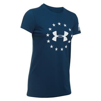Under Armour Freedom Logo 2.0 T-Shirt Blackout Navy / White