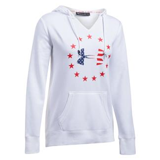 Under Armour Freedom Logo Favorite Fleece Hoodie White / Red