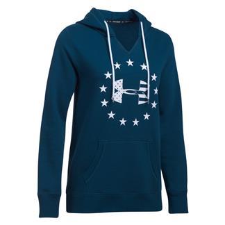 Under Armour Freedom Logo Favorite Fleece Hoodie Blackout Navy / White