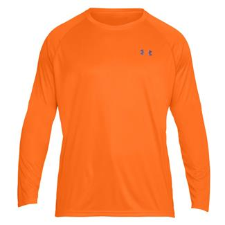 Under Armour Tactical Hi-Vis Long Sleeve T-Shirt Blaze Orange / Reflective