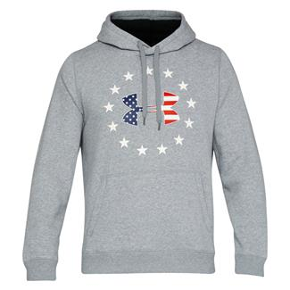 Under Armour Freedom Rival Fleece Hoodie True Gray Heather / Black