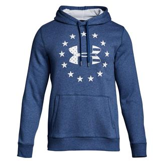 Under Armour Freedom Rival Fleece Hoodie Blackout Navy / White