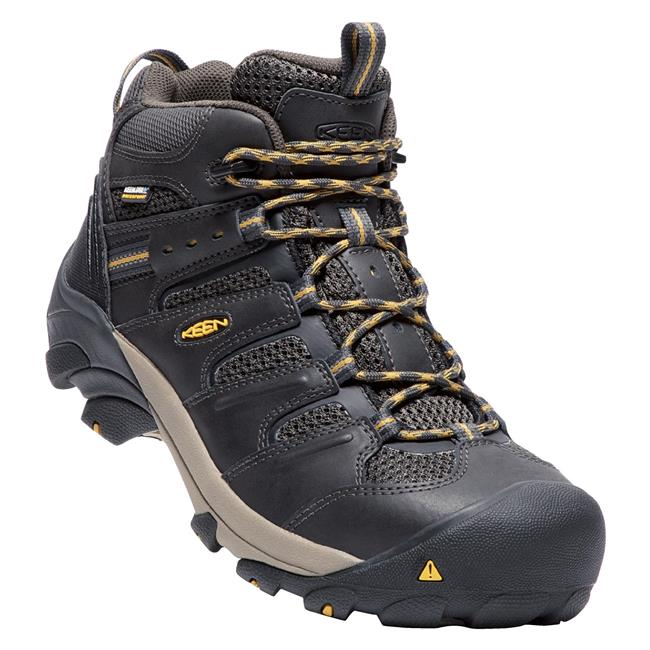 79204033638d Men s Keen Utility Lansing Mid Steel Toe Waterproof   WorkBoots.com