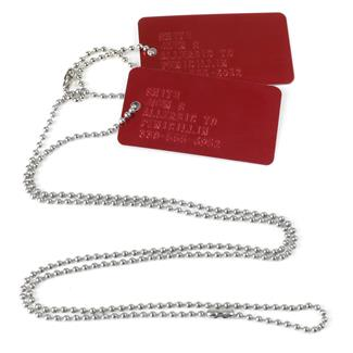 TG Red Medic Alert Dog Tag Kit Red