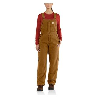 Carhartt Weathered Duck Wildwood Bib Overalls Carhartt Brown
