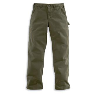 Carhartt Washed Twill Dungaree Pants Army Green