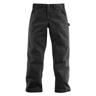 Carhartt Washed Twill Dungaree Pants Black