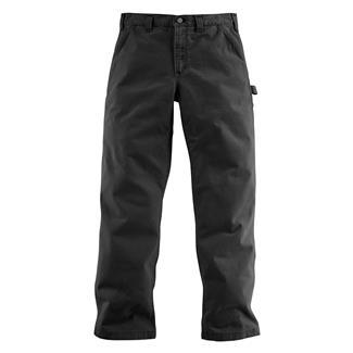 Carhartt Washed Twill Dungaree Pants Black