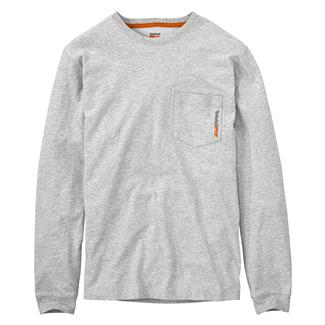 Timberland PRO Base Plate Blended Long Sleeve T-Shirt Light Gray Heather