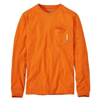 Timberland PRO Base Plate Blended Long Sleeve T-Shirt Burnt Orange