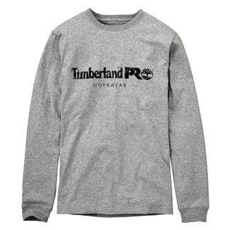Timberland PRO Cotton Core Long Sleeve T-Shirt Light Gray Heather