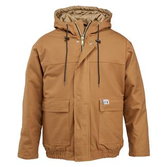 Wolverine FR Hooded Work Jacket Brown