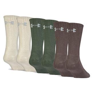 Under Armour Charged Cotton 2.0 Crew Socks - 6 Pack Neutral Assorted