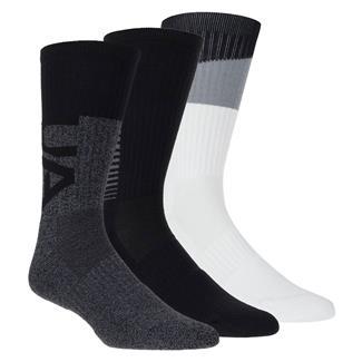 Under Armour Phenom 3.0 Socks - 3 Pack Graphite Assorted