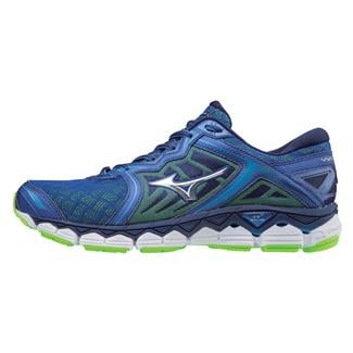 Mizuno Wave Sky Surf the Web / Silver Green Gecko