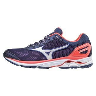 Mizuno Wave Rider 21 Patriot Blue / White / Hot Coral