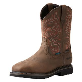 "Ariat 10"" Sierra Delta H2O ST Oily Distressed Brown"
