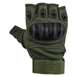 TG Hellfox Fingerless Gloves Olive
