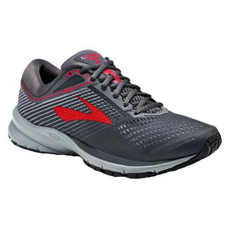 Brooks Launch 5 Ebony / Gray / Red