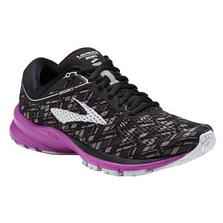 Brooks Launch 5 Black / Purple / Print
