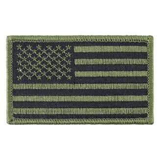 TG American Flag Patch Subdued Olive Drab