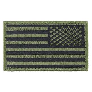 TG American Flag Reversed Patch Subdued Olive Drab Reversed