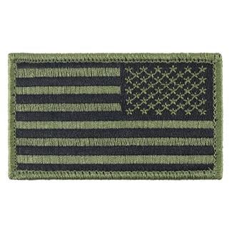 TG American Flag Reversed Patch Subdued Olive Drab