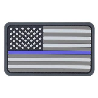 TG Thin Blue Line Flag PVC Patch Blue