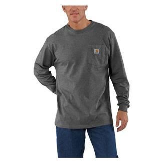 Carhartt Long Sleeve Workwear Pocket T-Shirt Carbon Heather