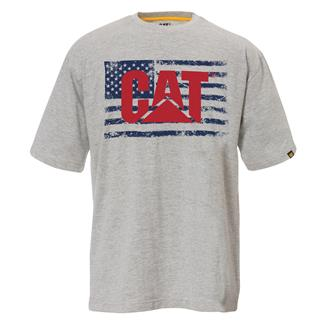 CAT Old Glory T-Shirt Heather Gray