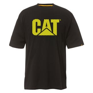CAT Custom Logo T-Shirt Black / Hi-Vis