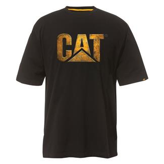 CAT Custom Logo T-Shirt Black / Metal Plate