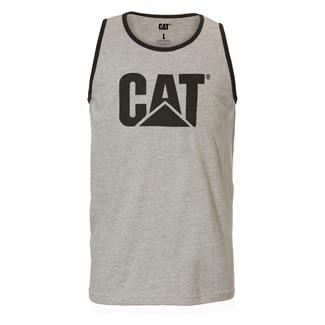 CAT Logo Tank Top Heather Gray